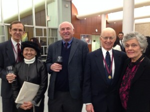 A distinguished club gets a new member. Pictured (l to r): Richard and Mimi Gyug, Roger Wines, Bob and Joanne Himmelberg.