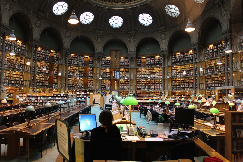 The reading rooms at the Richelieu Site, Bibliothèque Nationale de France