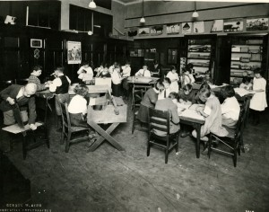 "Elizabeth Irwin's ""Little Red Schoolhouse"" program at Public School 61, 1928"