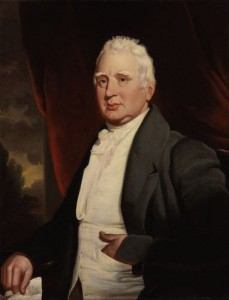 A painting of William Cobbett, possibly by George Cooke, circa 1831