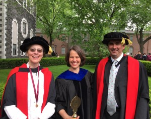 History faculty members (l-r) Susan Wabuda, Kirsten Swinth, and Nicholas Paul