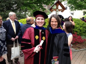 Megan Monahan, PhD with her mentor Professor Kirsten Swinth