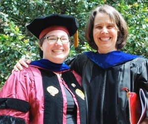 Noel Wolfe, PhD with Professor Swinth following the hooding ceremony