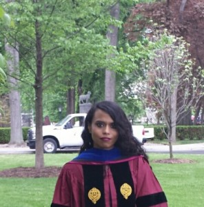 Nicola Singh, Phd following the hooding ceremony