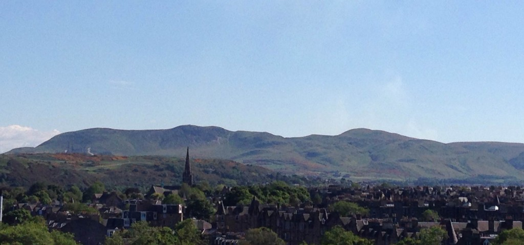 View from the Edinburgh University Library special collections reading room: