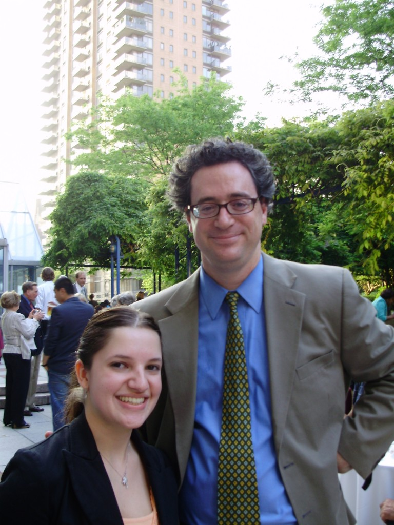 Christopher Schmidt-Nowara with one of his students at Fordham College Lincoln Center
