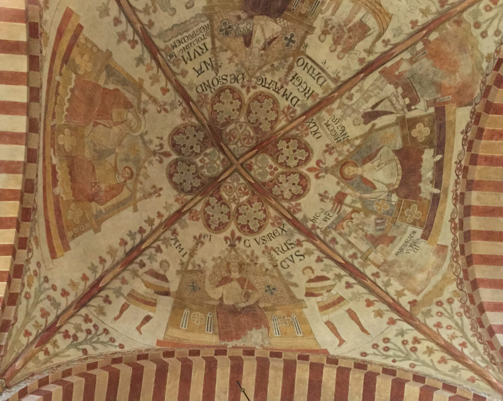Ceiling Frescoes at Ringsted Abbey, Denmark