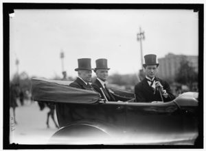 Secretary of State Robert Lansing (far left) in Washington, D.C., no date (between 1916 and 1918), Harris & Ewing Collection, Library of Congress, Washington, D.C.