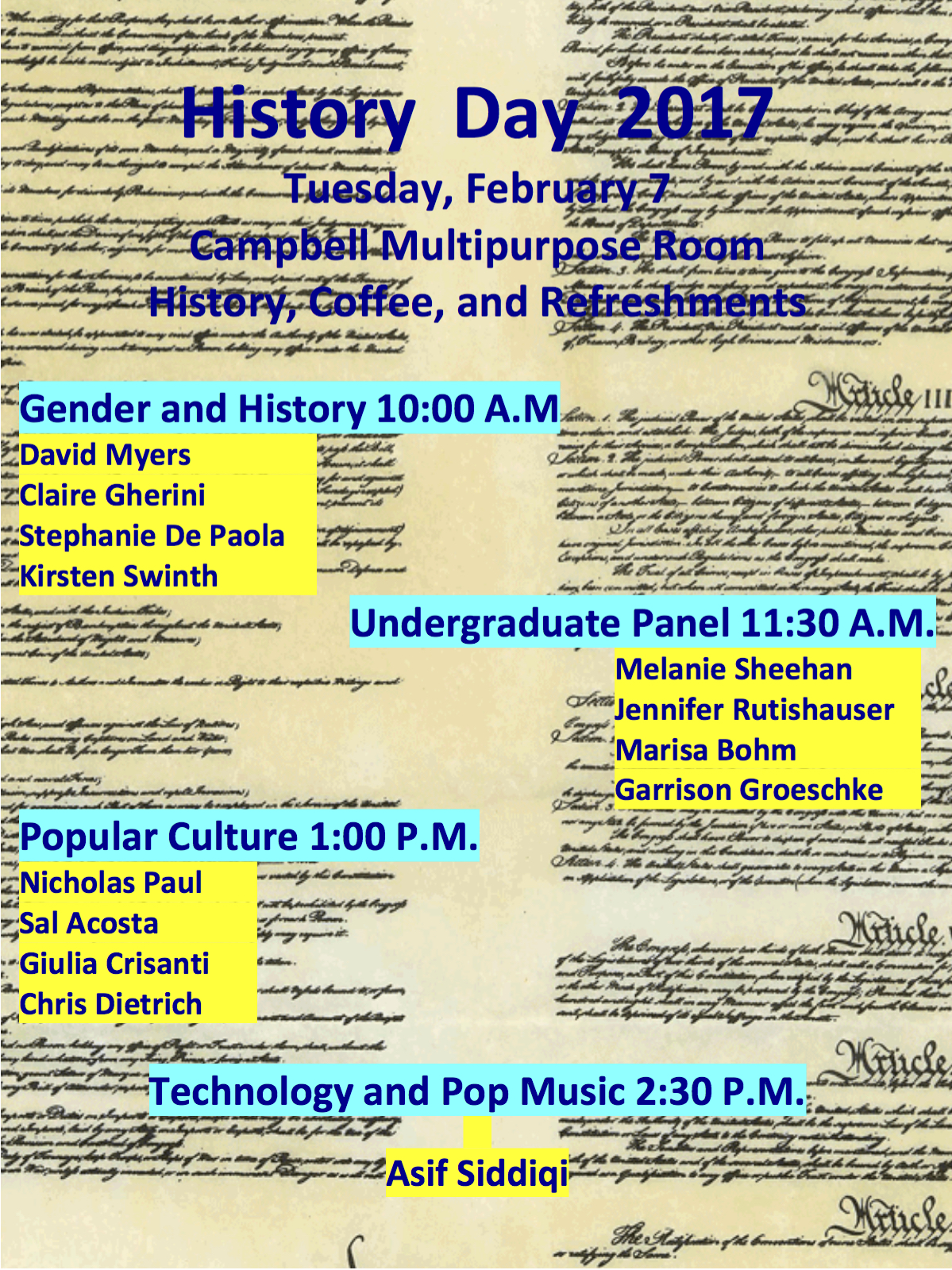 Join Us Tomorrow For History Day!